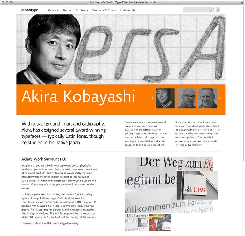 Monotype's Studio Type Director Akira Kobayashi