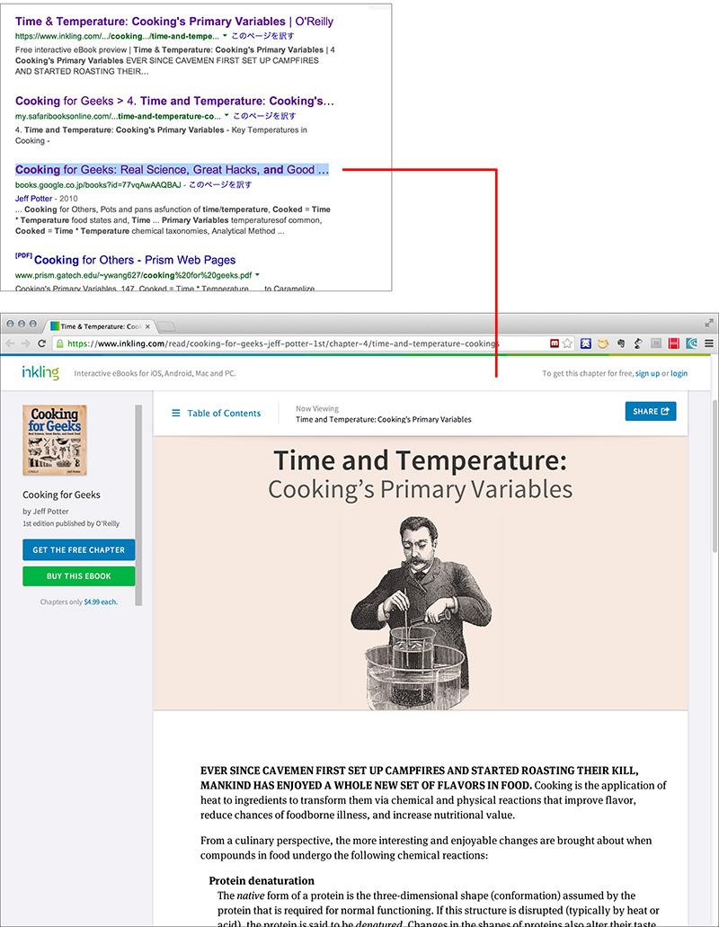 Google検索で表示された書籍のページ